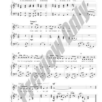 The Prayer of St. Francis Preview Score p.3