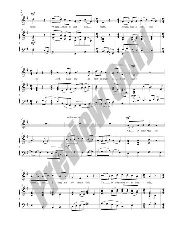 The Prayer of St. Francis Preview Score p2