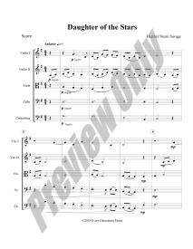 Daughter of the Stars Preview Score p.1