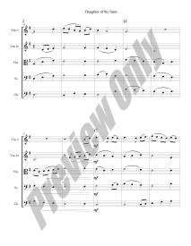 Daughter of the Stars Preview Score p.2