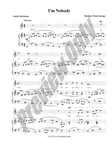 I'm Nobody Preview Score p.1