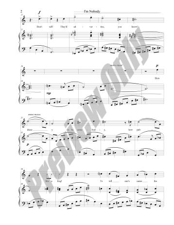 I'm Nobody Preview Score p.2