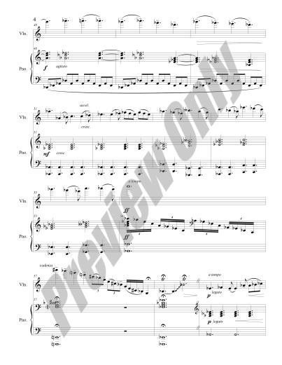 Nocture for Violin & Piano Preview Score p.4
