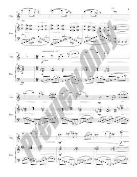 Nocturne for Violin & Piano Preview Score p.3