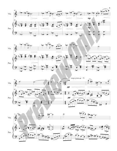 Nocturne for Violin & Piano Preview Score p.5