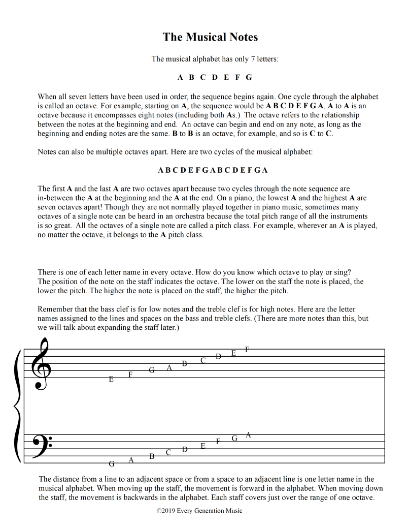 Musical Notes Page 6